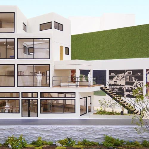ギャラリストの住まい - 地域に開かれたアートウォールと住宅のコンプレックス01