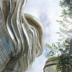 住×1/50|雲橋 ―― 東京の空に近づく