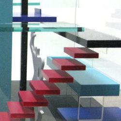 浮遊する面、めくるめく色彩